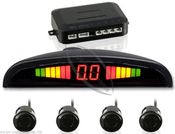KFZ Auto Einparkhilfe PDC Park System Display Rückfahrwarner 4 Sensor Schwarz
