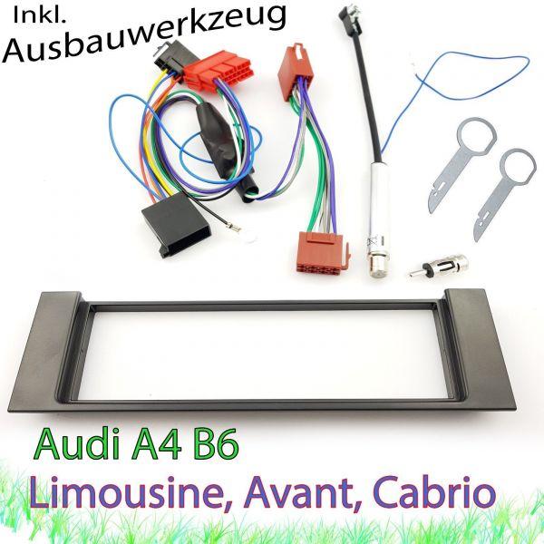 AUDI A4 B6 8E 8H Radioblende Blende Adapter Antenne Phantomspeisung Set