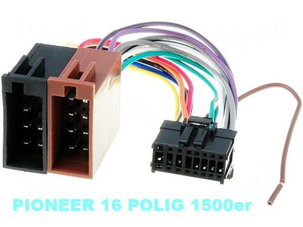 Pioneer Autoradio Stecker Adapter Kabel ISO Radioadapter 16 PIN Steckverbinder