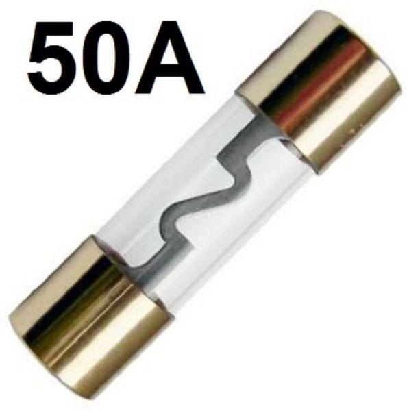 GLAS-Sicherung AGU 50-A GoldLine Vergoldet 50 Amper Hauptsicherung ENDSTUFE
