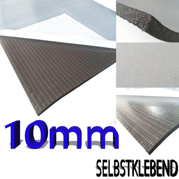 1x DSM - Matte in Abmessungen je Matte: 100 x 100 x 1,0 cm Hitzebeständig, Frontseite glatte schwa