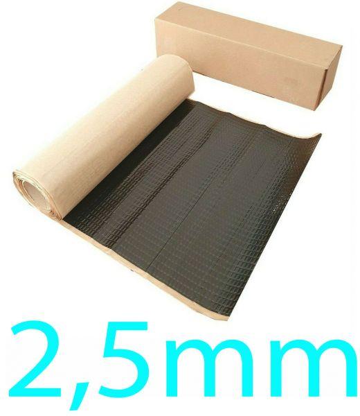 2,5 mm dick 2m² Alubutyl 50x400 cm Dämmmatte selbstklebend Anti Dröhn Matte Fahrzeugdämmung