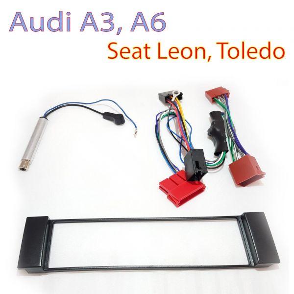 Radioblende Audi A3, A6 / Seat Toledo, Leon Kabel Set Aktiv
