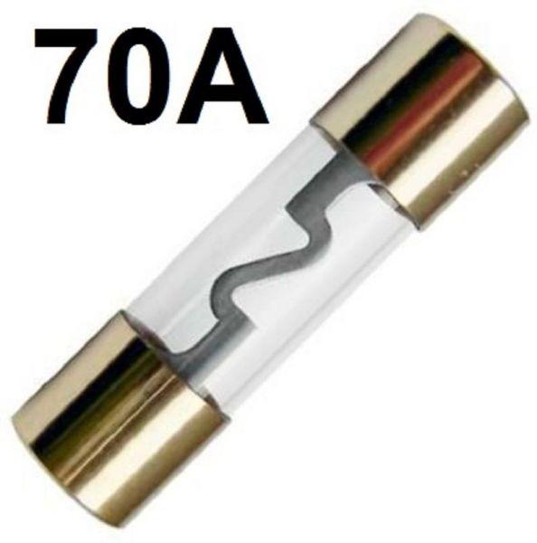 GLAS-Sicherung AGU 70-A GoldLine Vergoldet 70 Amper Hauptsicherung ENDSTUFE