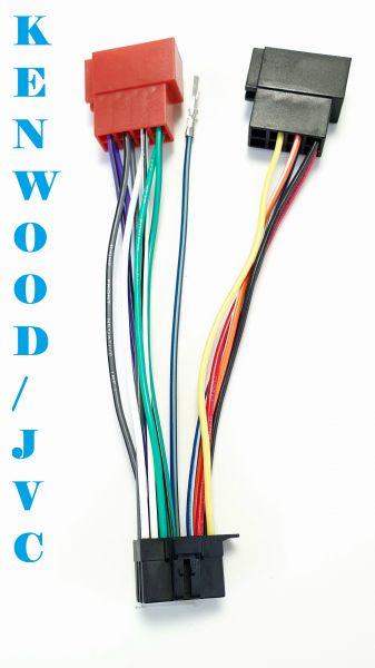 Kennwood / JVC Adapterkabel Radiokabel ISO 16 PIN Kabelbaum