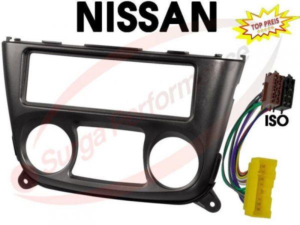 Auto Radio Einbau Blende/Rahmen + Adapter > NISSAN Almera N16 ab 03/2000 NEU OVP