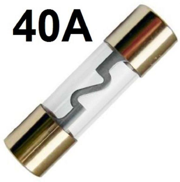 GLAS-Sicherung AGU 40-A GoldLine Vergoldet 40 Amper Hauptsicherung ENDSTUFE