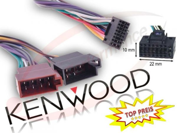 KENWOOD Autoradio Kabel Radio KFZ Auto Adapter Stecker DIN ISO 16